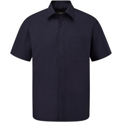 Vêtements Homme Chemises manches courtes Russell Poplin Bleu marine