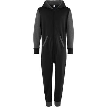 Vêtements Enfant Combinaisons / Salopettes Comfy Co Contrast Noir/Gris foncé