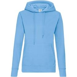 Vêtements Femme Sweats Fruit Of The Loom Hooded Bleu ciel