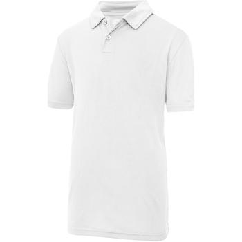 Vêtements Enfant Polos manches courtes Just Cool Plain Blanc arctique