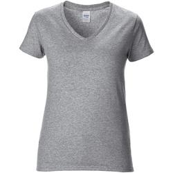Vêtements Femme T-shirts manches courtes Gildan Premium Gris
