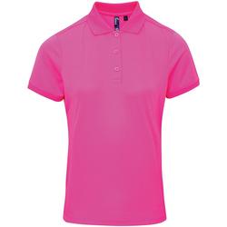 Vêtements Femme Polos manches courtes Premier PR616 Rose néon