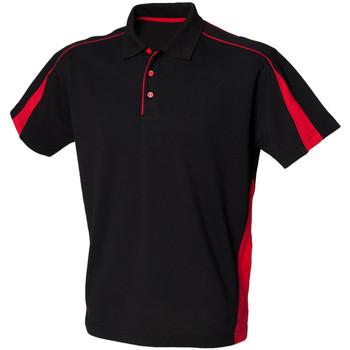 Vêtements Homme Polos manches courtes Finden & Hales LV390 Noir/Rouge