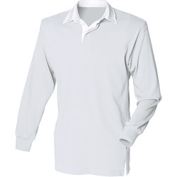 Vêtements Homme Polos manches longues Front Row Rugby Gris/Blanc