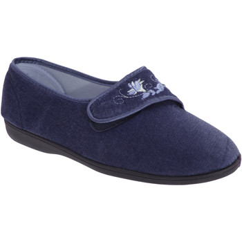 Chaussures Femme Chaussons Sleepers Embroidered Bleu marine