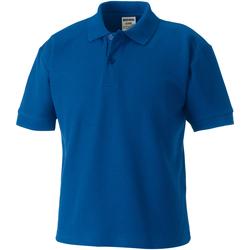 Vêtements Garçon Polos manches courtes Jerzees Schoolgear Pique Bleu roi vif
