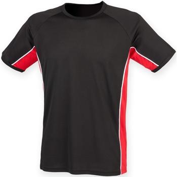 Vêtements Homme T-shirts manches courtes Finden & Hales Performance Noir/Rouge/Blanc
