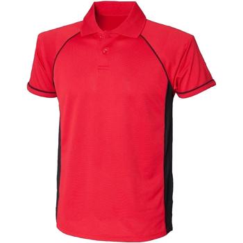 Vêtements Homme Polos manches courtes Finden & Hales Performance Rouge/Noir