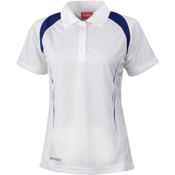 Vêtements Femme Polos manches courtes Spiro Performance Blanc/Bleu marine