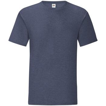 Vêtements Homme T-shirts manches courtes Fruit Of The Loom Iconic Bleu marine chiné