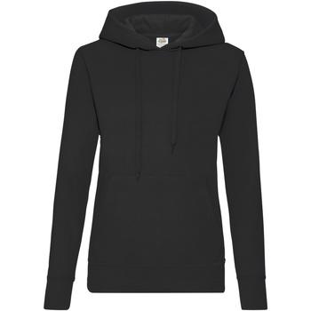 Vêtements Femme Sweats Fruit Of The Loom Hooded Noir
