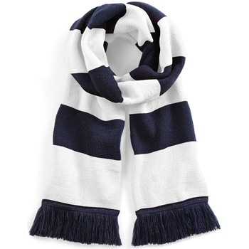 Accessoires textile Echarpes / Etoles / Foulards Beechfield Varsity Bleu marine/Blanc