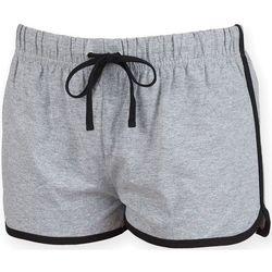 Vêtements Femme Shorts / Bermudas Skinni Fit Retro Gris/Noir