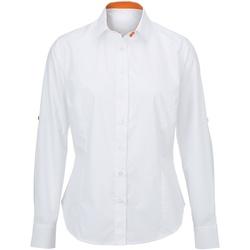 Vêtements Femme Chemises / Chemisiers Alexandra AX060 Blanc/Orange