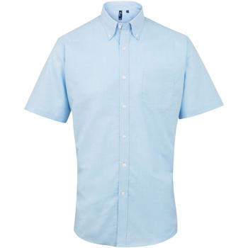 Vêtements Homme Chemises manches courtes Premier Oxford Bleu clair