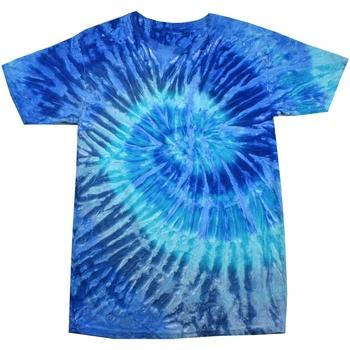 Vêtements Femme T-shirts manches courtes Colortone Rainbow Bleu jerry
