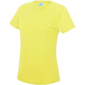 Vêtements Femme T-shirts manches courtes Just Cool JC005 Jaune électrique
