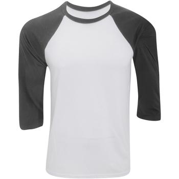 Vêtements Homme T-shirts manches courtes Bella + Canvas Baseball Blanc / gris foncé