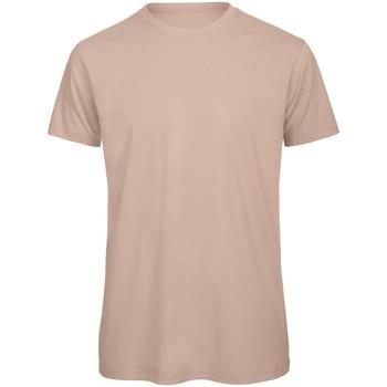 Vêtements Homme T-shirts manches courtes B And C TM042 Rose clair