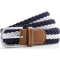 Accessoires textile Homme Ceintures Asquith & Fox Two Colour Stripe Bleu marine/Blanc