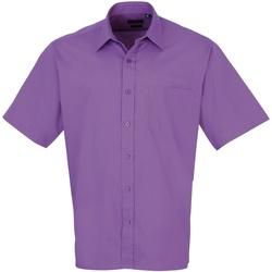 Vêtements Homme Chemises manches courtes Premier PR202 Violet