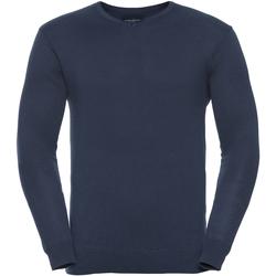 Vêtements Homme Pulls Russell Collection Pullover à col en V BC1012 Bleu marine