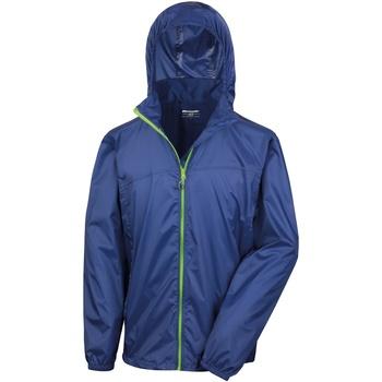 Vêtements Coupes vent Result Hydradri Bleu marine/Vert citron