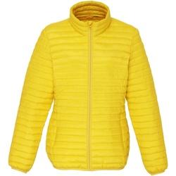 Vêtements Femme Doudounes 2786 Fineline Jaune vif