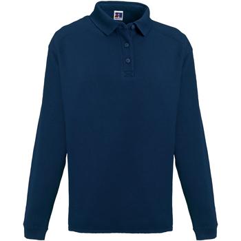 Vêtements Homme Polos manches longues Russell Europe Sweatshirt avec col et boutons RW3275 Bleu marine