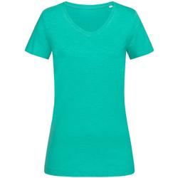 Vêtements Femme T-shirts manches courtes Stedman Stars Sharon Vert canard