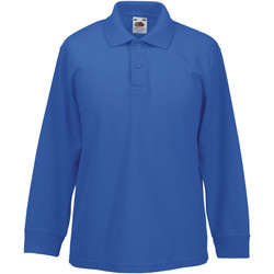 Vêtements Enfant Polos manches longues Fruit Of The Loom Pique Bleu roi