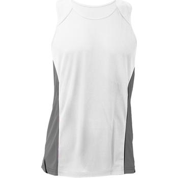 Vêtements Homme Débardeurs / T-shirts sans manche Gamegear KK973 Blanc/Gris