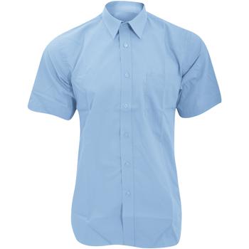 Vêtements Homme Chemises manches courtes Fruit Of The Loom 65116 Bleu moyen