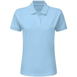 Vêtements Femme Polos manches courtes Sg SG50F Bleu ciel