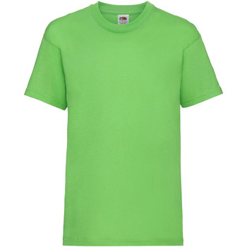 Vêtements Enfant T-shirts manches courtes Fruit Of The Loom 61033 Vert citron