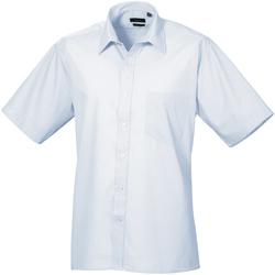Vêtements Homme Chemises manches courtes Premier Poplin Bleu clair