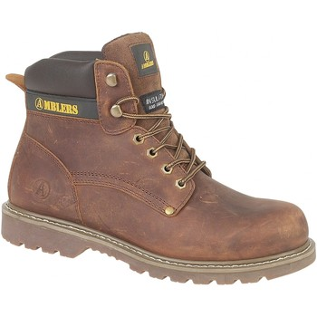 Chaussures Homme Boots Amblers Casual Marron
