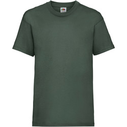 Vêtements Enfant T-shirts manches courtes Fruit Of The Loom 61033 Vert bouteille