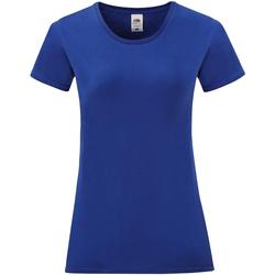 Vêtements Femme T-shirts manches courtes Fruit Of The Loom 61432 Bleu