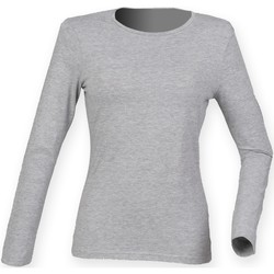 Vêtements Femme T-shirts manches longues Skinni Fit Stretch Gris