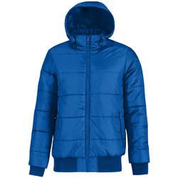 Vêtements Homme Doudounes B And C Bomber Bleu roi/Orange fluo