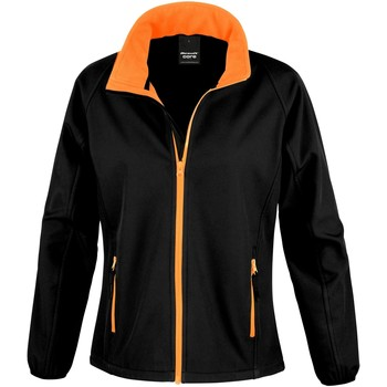 Vêtements Femme Polaires Result Softshell Noir/Orange
