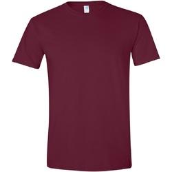 Vêtements Homme T-shirts manches courtes Gildan Soft-Style Bordeaux
