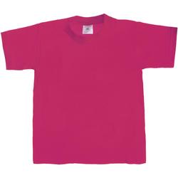 Vêtements Enfant T-shirts manches courtes B And C TK301 Fuchsia