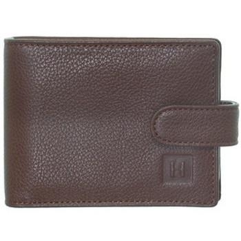 Sacs Femme Portefeuilles Hexagona Porte-cartes  en cuir ref_47643 Cognac 11,5*8*2 Marron