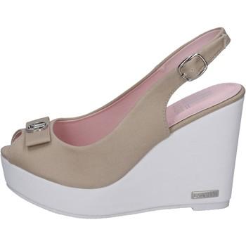 Chaussures Femme Sandales et Nu-pieds Lancetti sandales toile beige