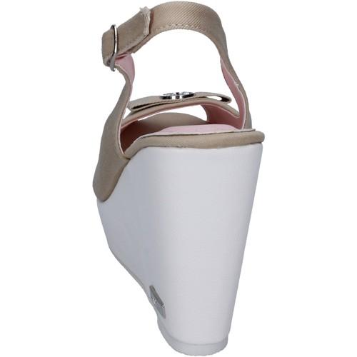 sandales toile Lancetti sandales et nu-pieds femme beige