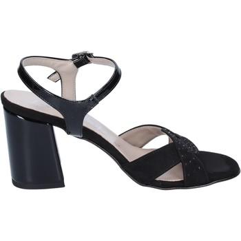 Chaussures Femme Sandales et Nu-pieds Lady Soft sandales daim synthétique noir