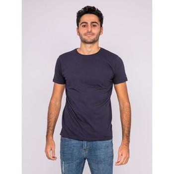 Vêtements T-shirts manches courtes Ritchie T-shirt col rond pur coton organique WAMASSOU Bleu marine