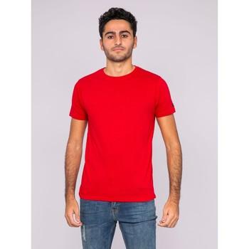 Vêtements T-shirts manches courtes Ritchie T-shirt col rond pur coton organique WAMASSOU Rouge